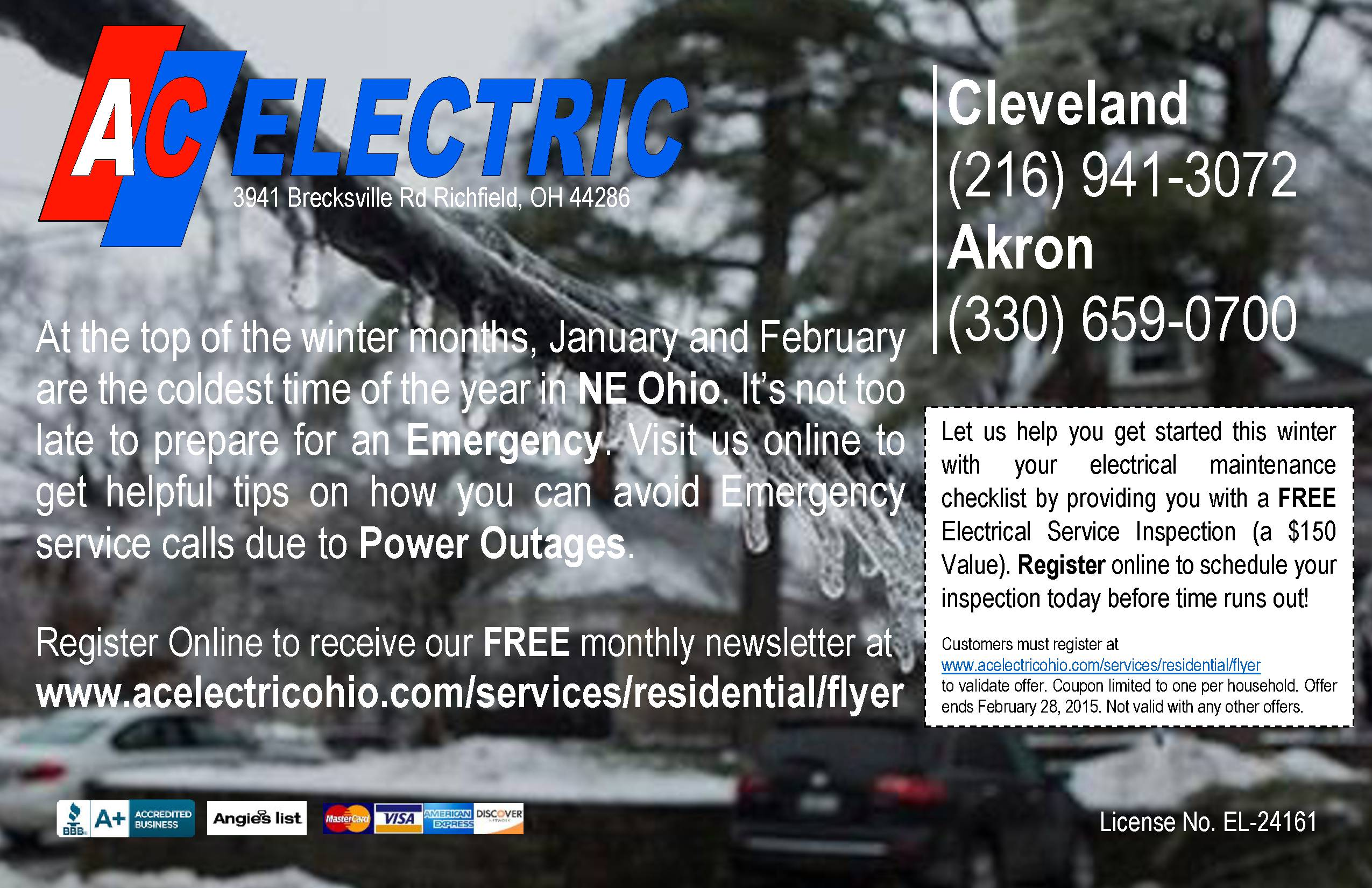 January 2015-Emergency Electrical Service