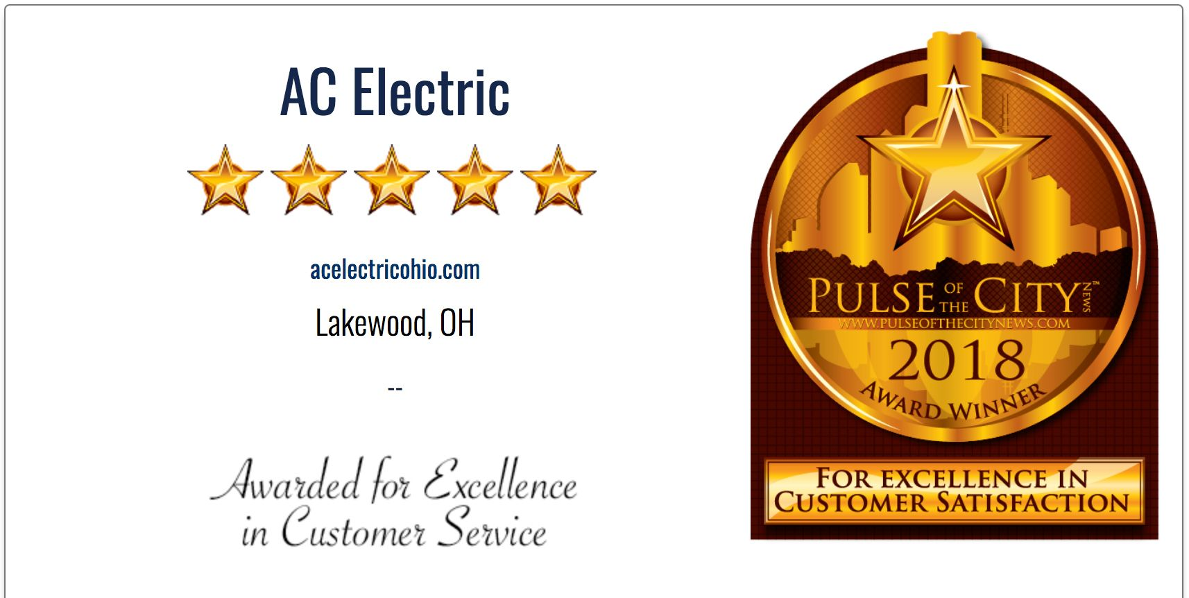 AC Electric Award